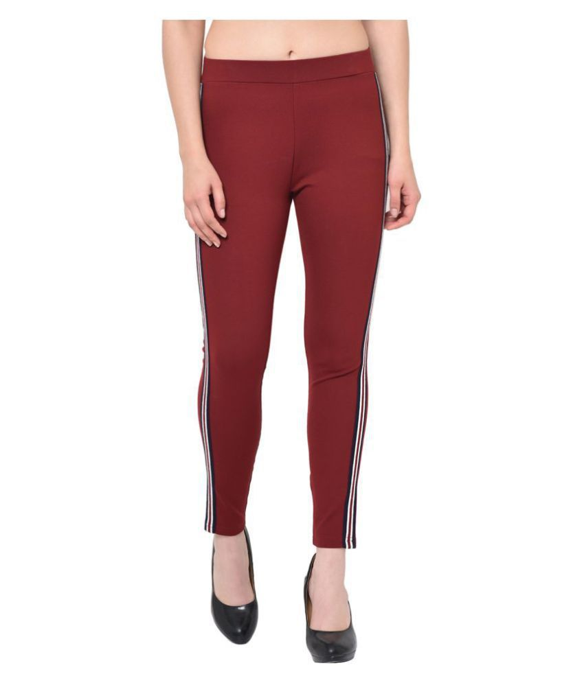2Bme Rayon Jeggings - Red