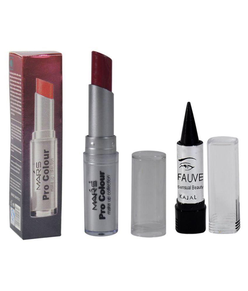 Mars GCI Free Kajal With Lipstick Berry Red 3.5 g