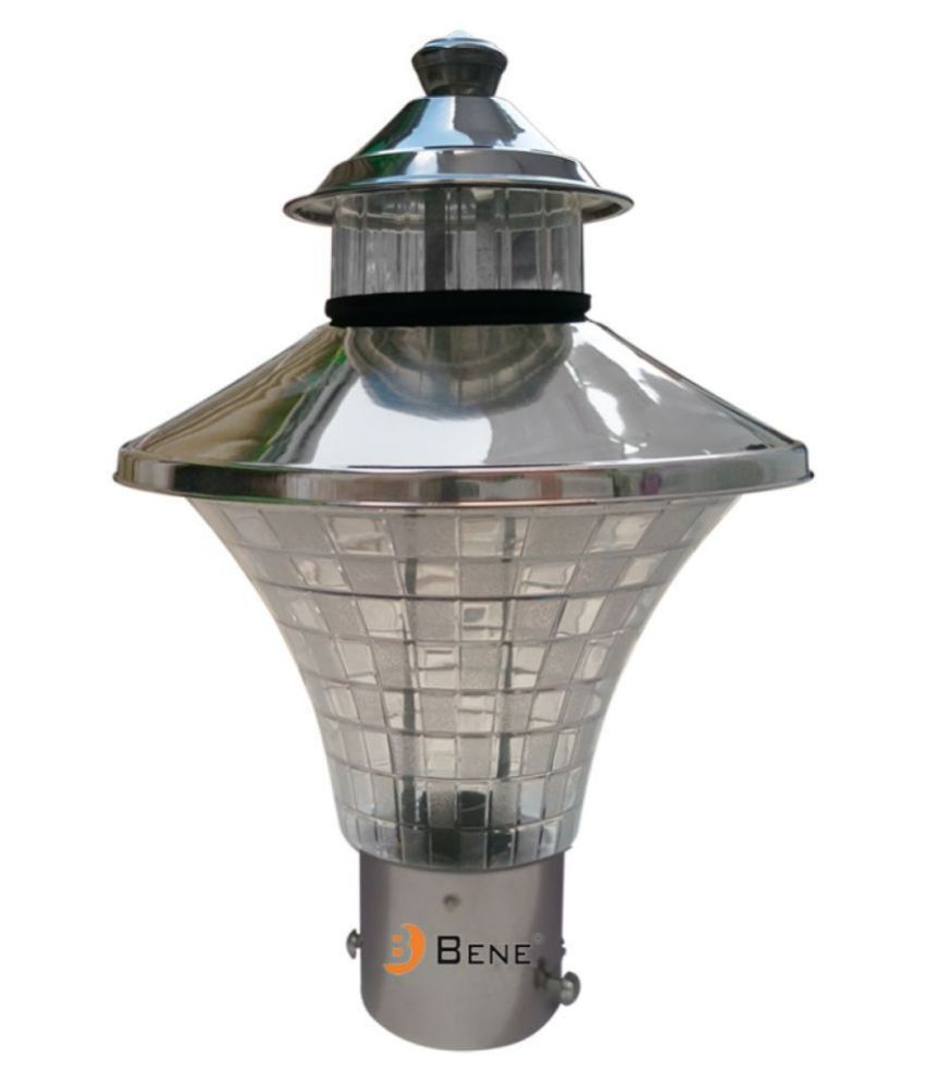 Bene Garden Light Nice RG 23Cm(SS Finish, Pack of 1 Pc) Gate Light Cool Day Light - Pack of 1