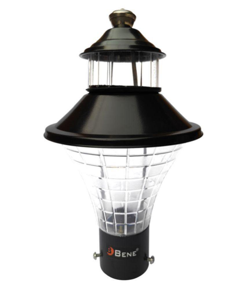 Bene Outdoor Lamp Geruit (Black, 18 Cms) Gate Light Cool Day Light - Pack of 1