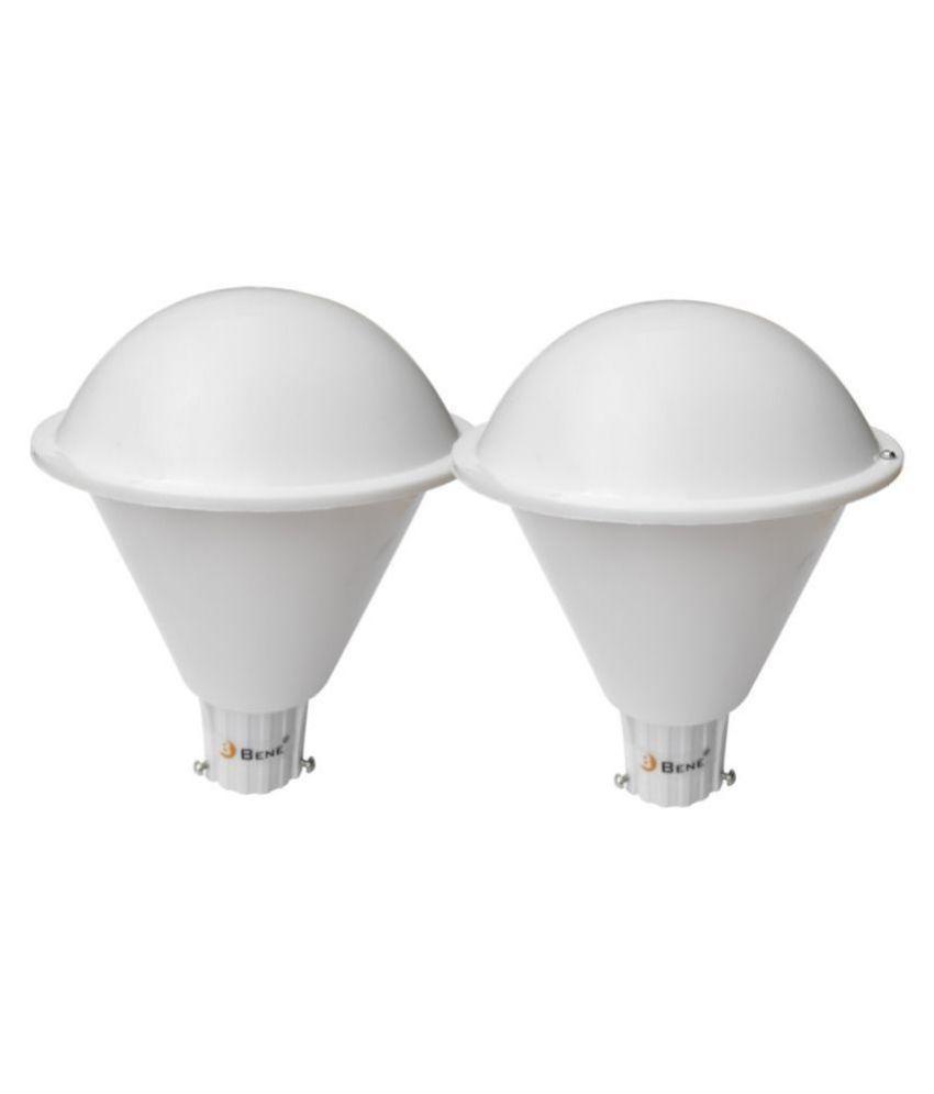 Bene Outdoor Lamp Plum, (White, 20 Cms, Pack of 2 Pcs) Gate Light Cool Day Light - Pack of 2