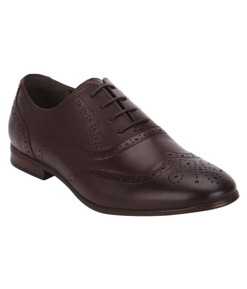 Red Tape Brogue Genuine Leather Brown Formal Shoes