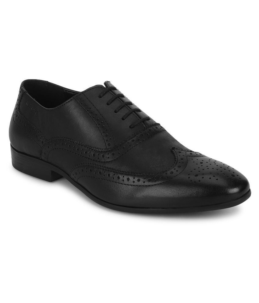 Red Tape Oxfords Genuine Leather Black Formal Shoes