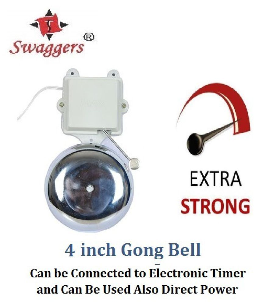 swaggers 4 inch school gong bell