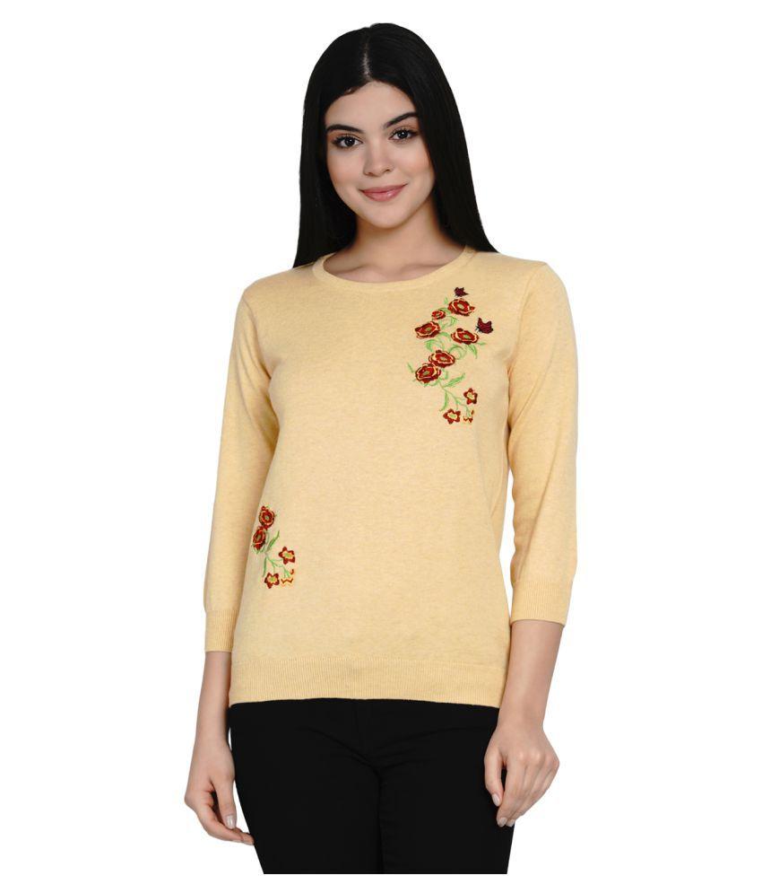 Armisto Cotton Beige Pullovers