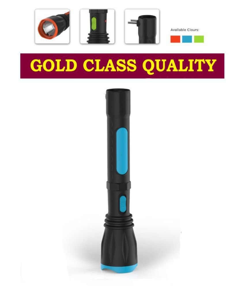 EmmEmm 5W Flashlight Torch Gold Rechargeable - Pack of 1