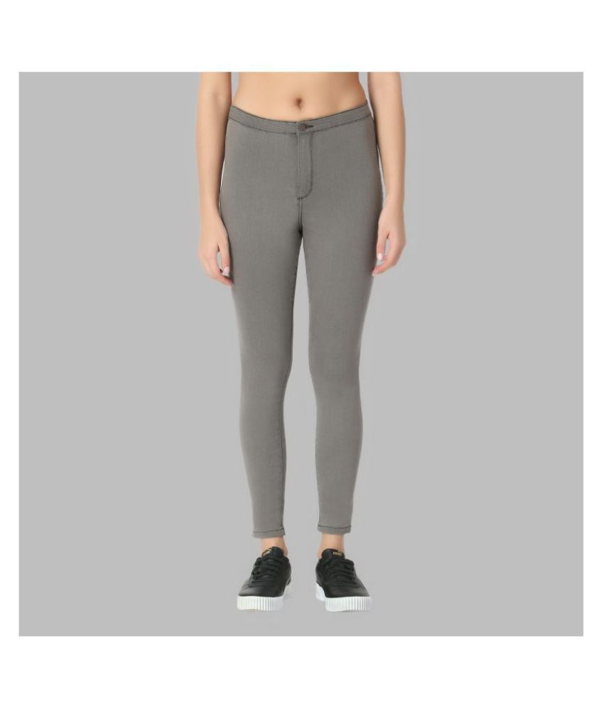OVERS Cotton Lycra Jeans - Grey