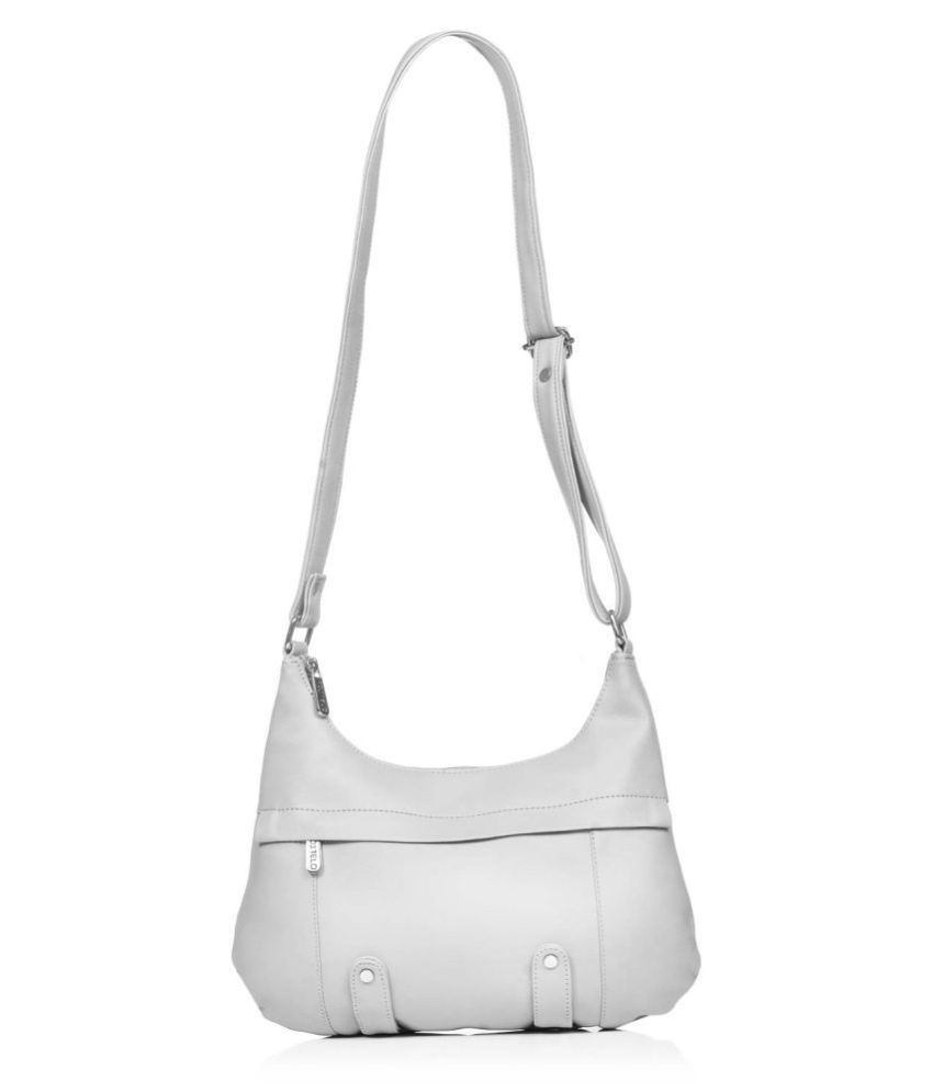 Fostelo Gray Faux Leather Sling Bag