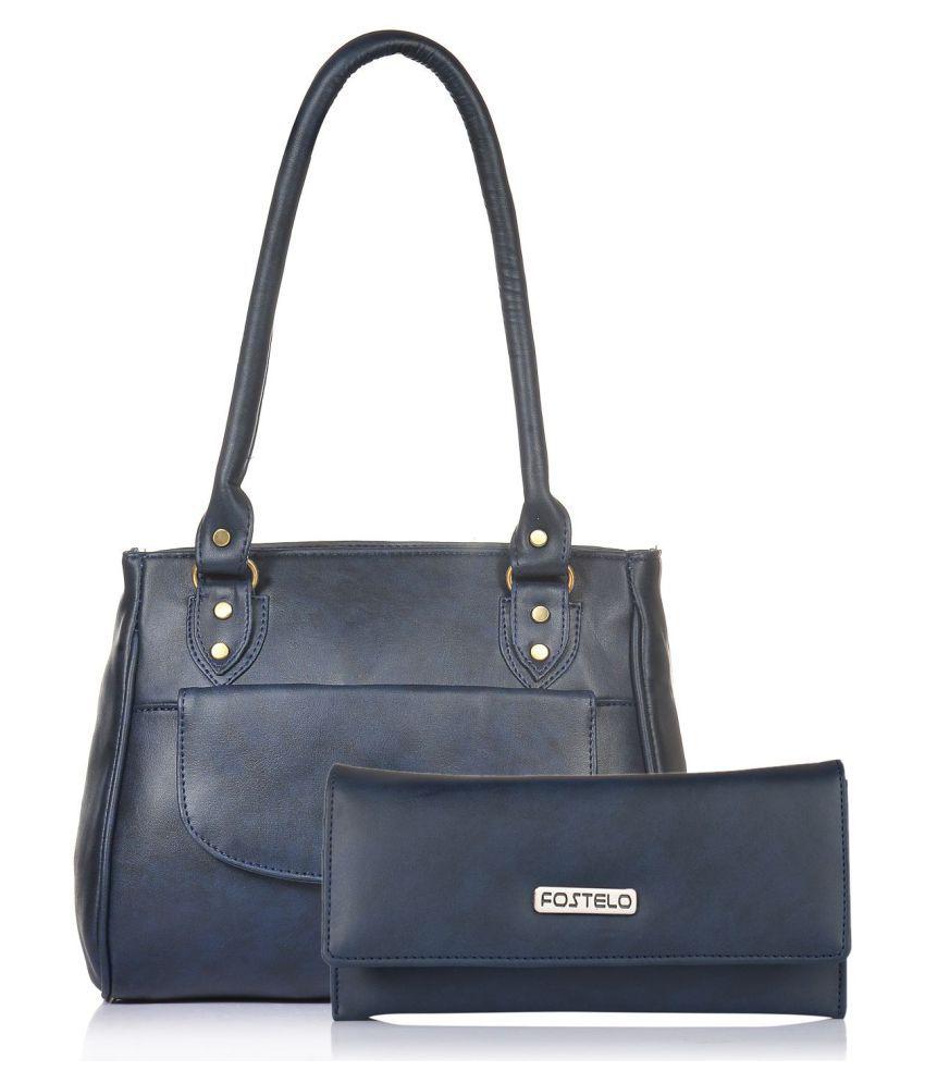 Fostelo Blue P.U. Shoulder Bag