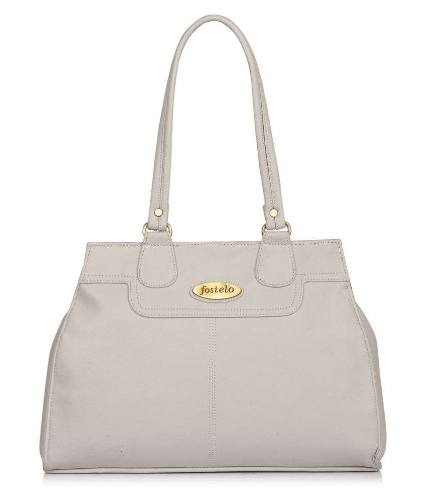 Fostelo Gray P.U. Shoulder Bag