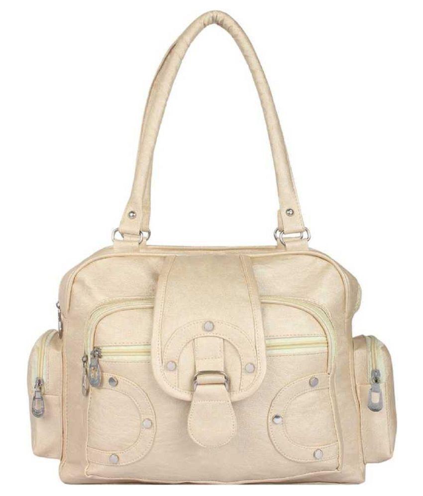 Ankita Fashion World White P.U. Shoulder Bag