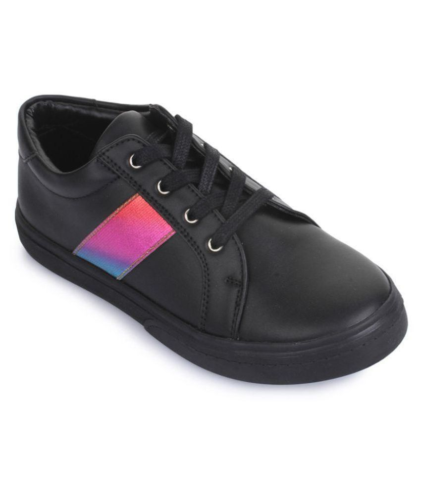 Bruno Manetti Kids Unisex Black Synthetic Leather Sneakers