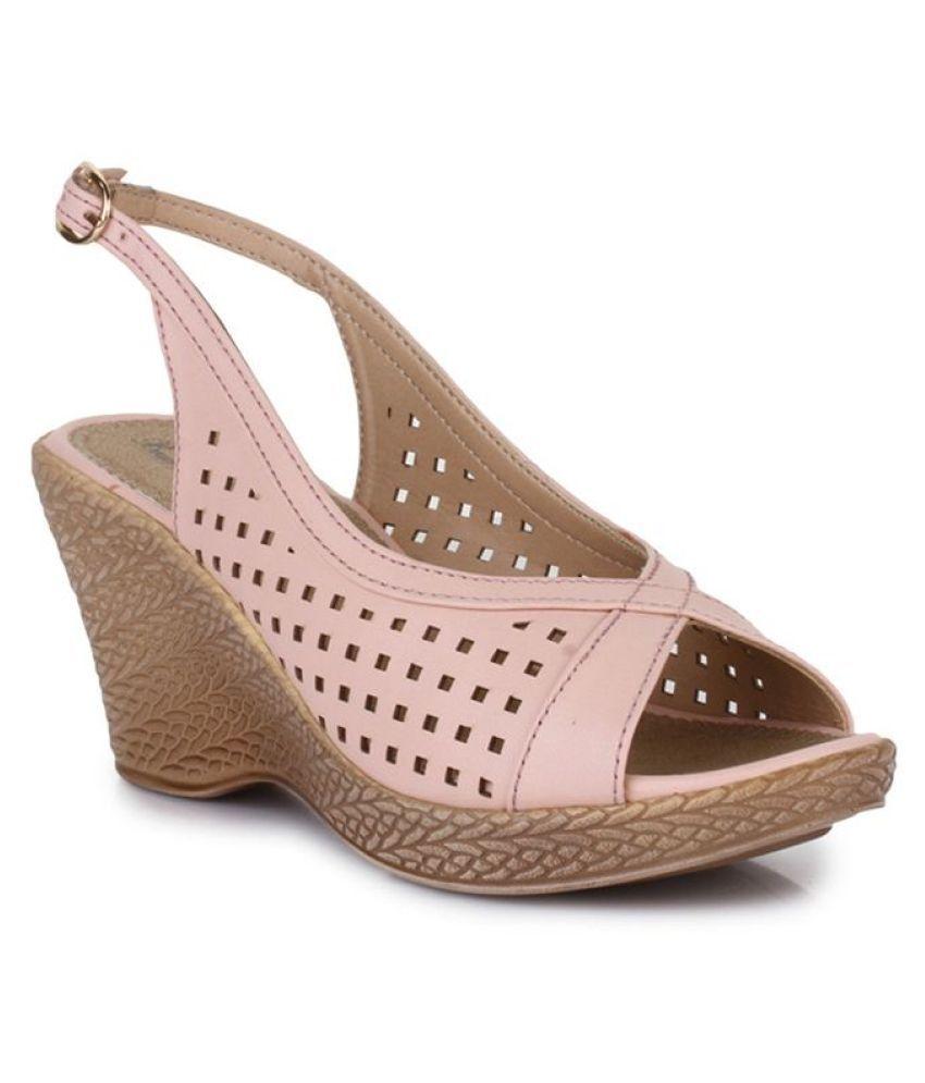 Bruno Manetti Pink Wedges Heels