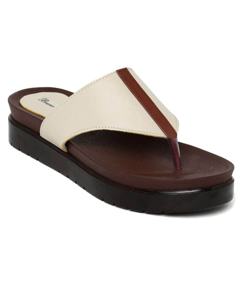 Bruno Manetti Beige Slippers