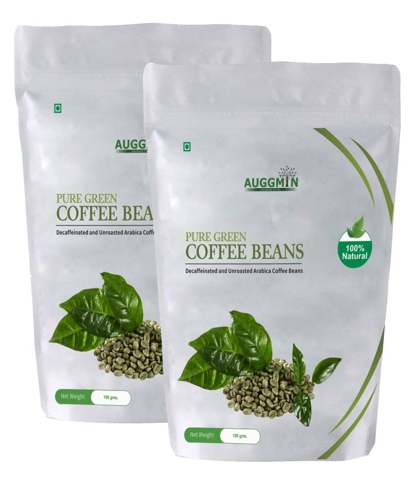 Auggmin Green Coffee Beans 100 Gms Each Pouch 200 gm Natural Pack of 2