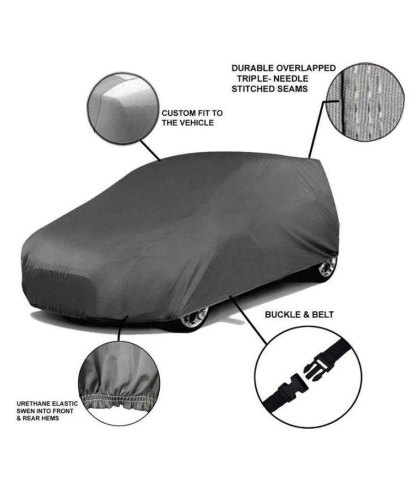 EKRS Grey Matty Car Body Cover / Car Cover For Hyundai i10 Grand Sportz 1.2 Kappa VTVT with Triple Stitching & Light Weight