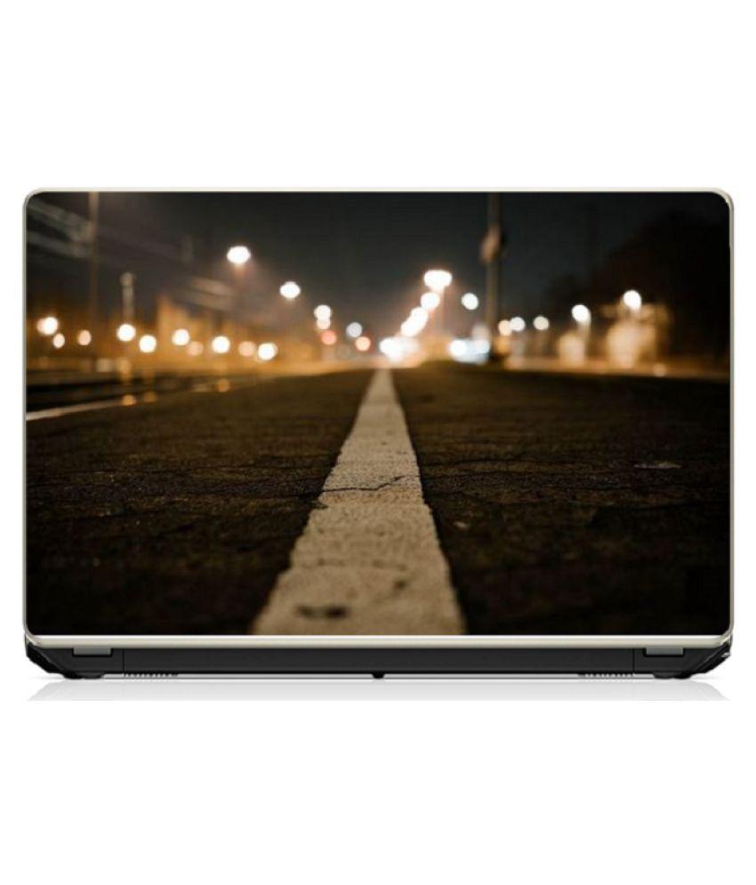Alone Road Laptop Skin 15.6 Vinyl Vinyl Laptop Decal 15.6