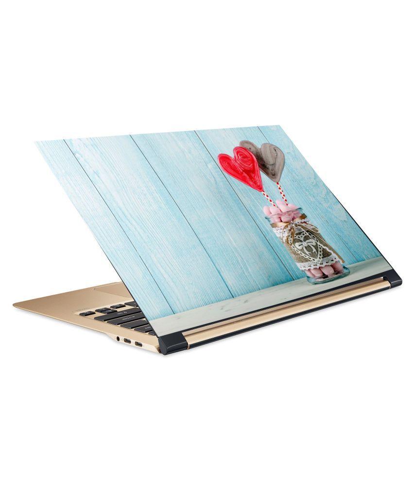 Heart couple Laptop Skin 15.6 Vinyl Vinyl Laptop Decal 15.6