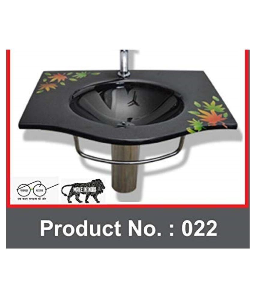 ARVIND SANITARY PVT LTD Black Toughened Glass Wall Hung Wash Basins