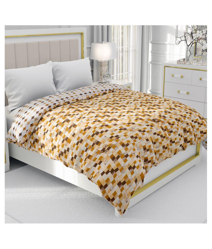 BE WANGLE Double Cotton Brown Geometrical Dohar