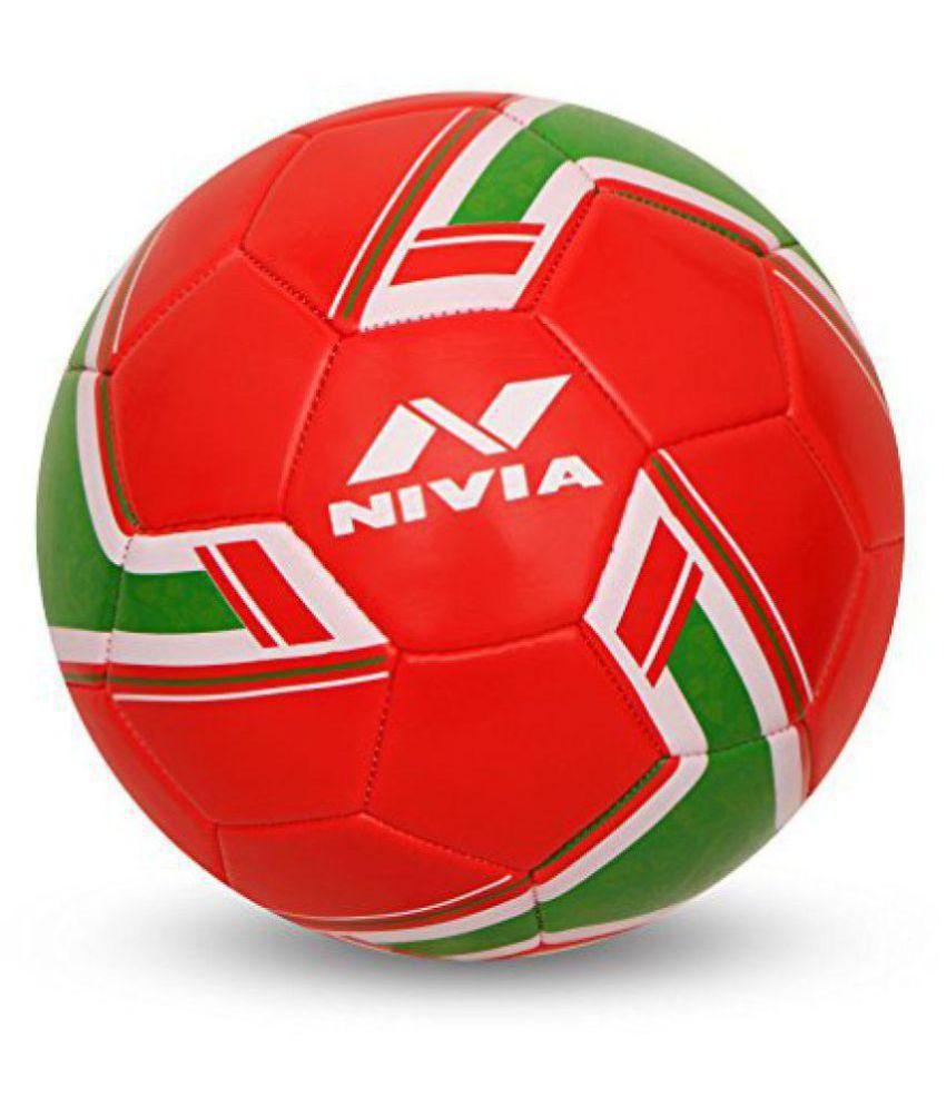 Nivia Nivia Spinner Red Football Size  5