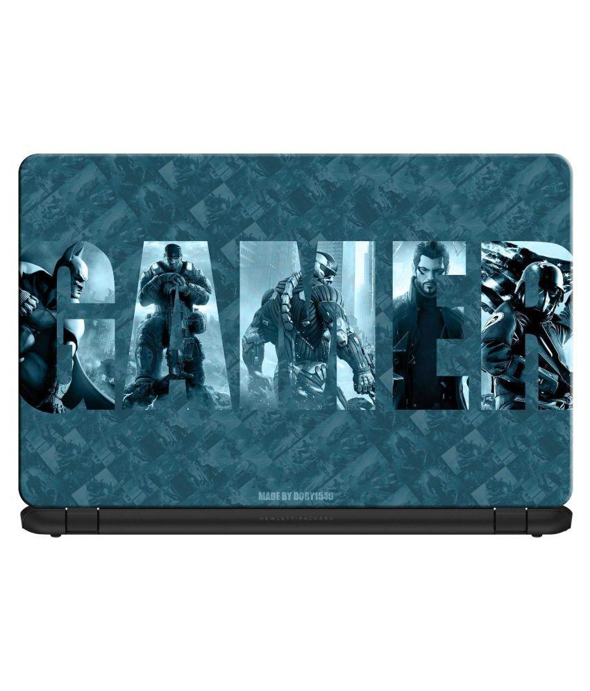 doodad Thrilling Gamer Premium Vinyl Laptop Decal 15.6