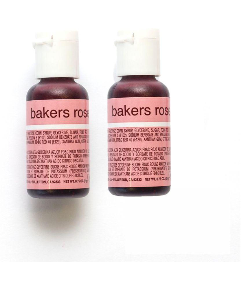 Chef Master Liqua-Gel Bakers Rose 20 ml 20 g Pack of 2