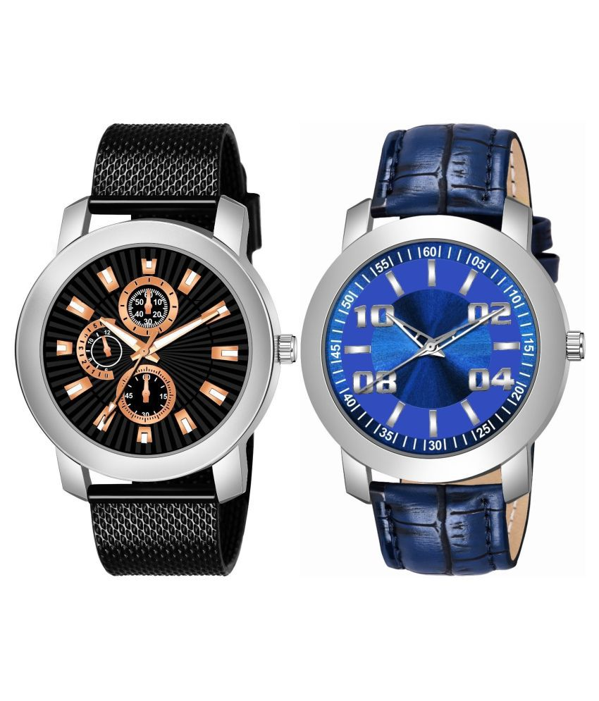 K_506_511 ANALOG QUARTZ PACK OF 2 WATCH FOR MEN AND BOYS