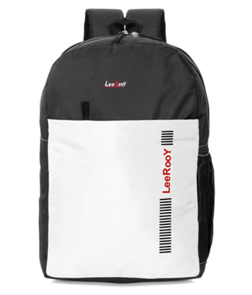 LeeRooy White Canvas College Bag