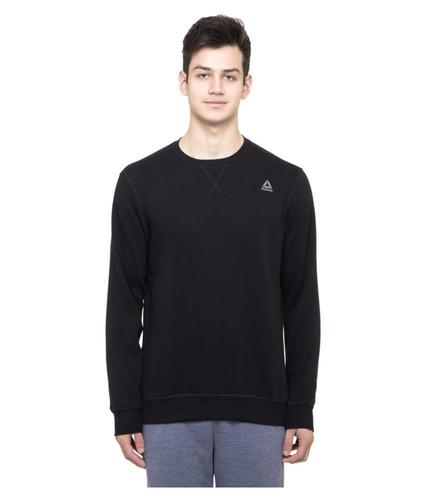 Reebok Black Poly Cotton Sweatshirt