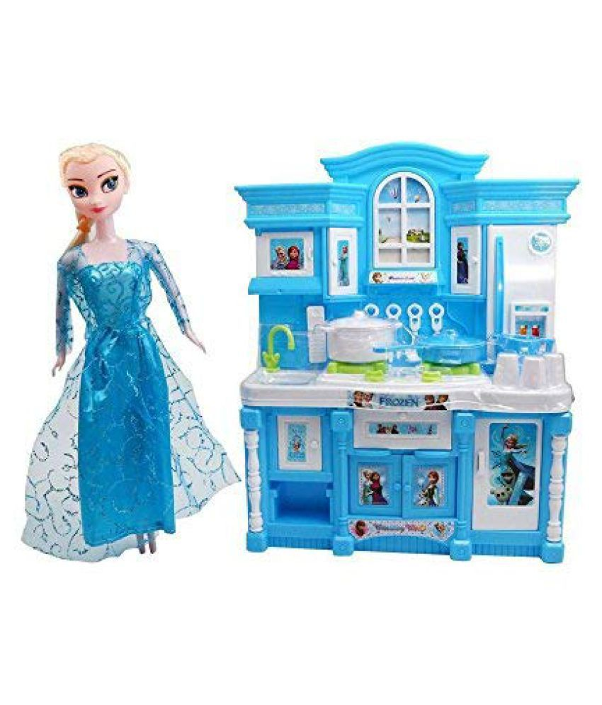 R K Gift Gallery Frozen Barbie World Dream House Kitchen Set By Cora Barbie New Toy Set With Utensils For Kids Buy R K Gift Gallery Frozen Barbie World Dream House Kitchen