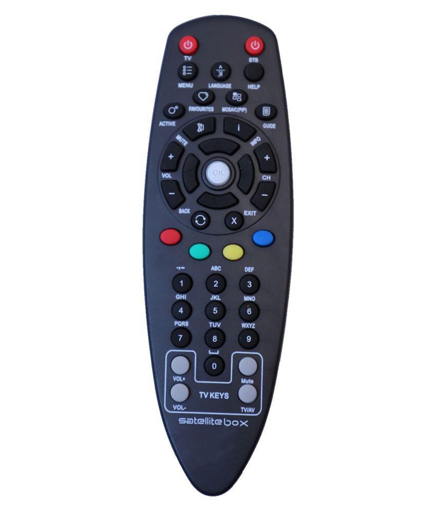 Upix Non RF (Black) DTH Remote Compatible with Videocon D2H Set Top Box