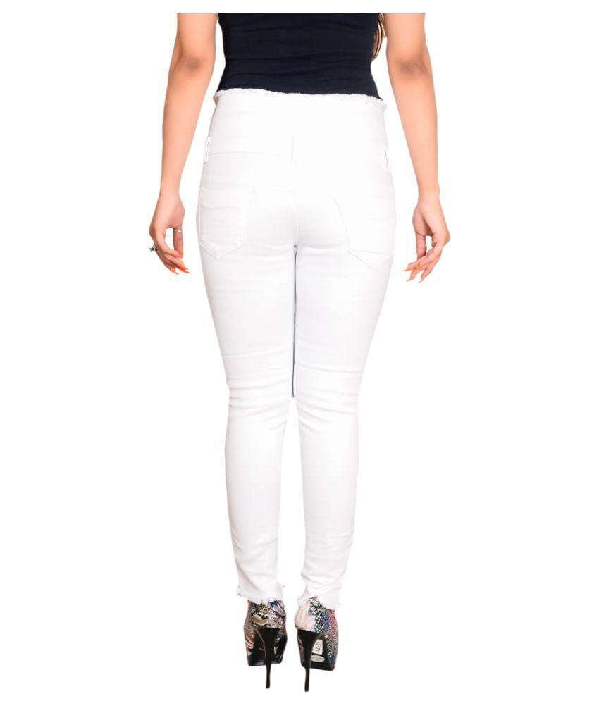 R J Fashion Cotton Lycra Jeans - Yellow