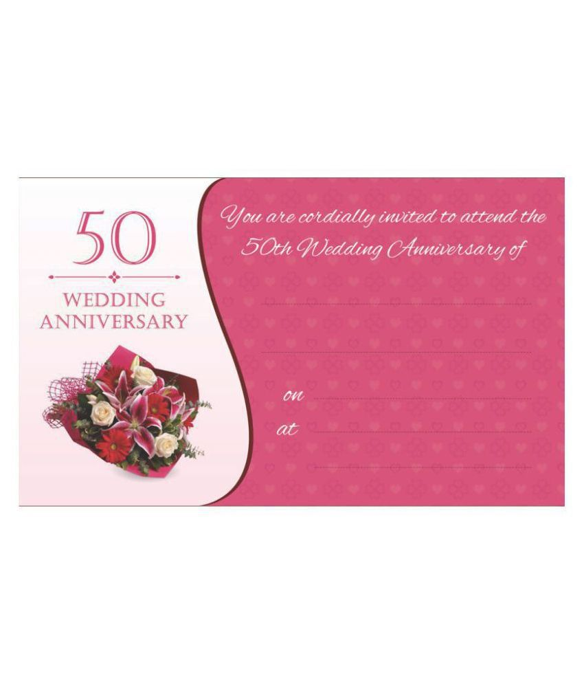 50thWedding Anniversary / Golden Jubilee Themed Pack of 36 cards- Fill in Style