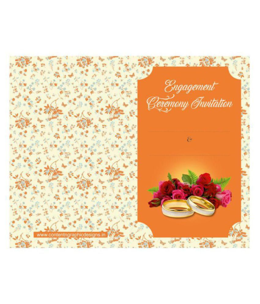 Betrothal Or Engagement Themed Cards - Fill in Style(Pack of 32)