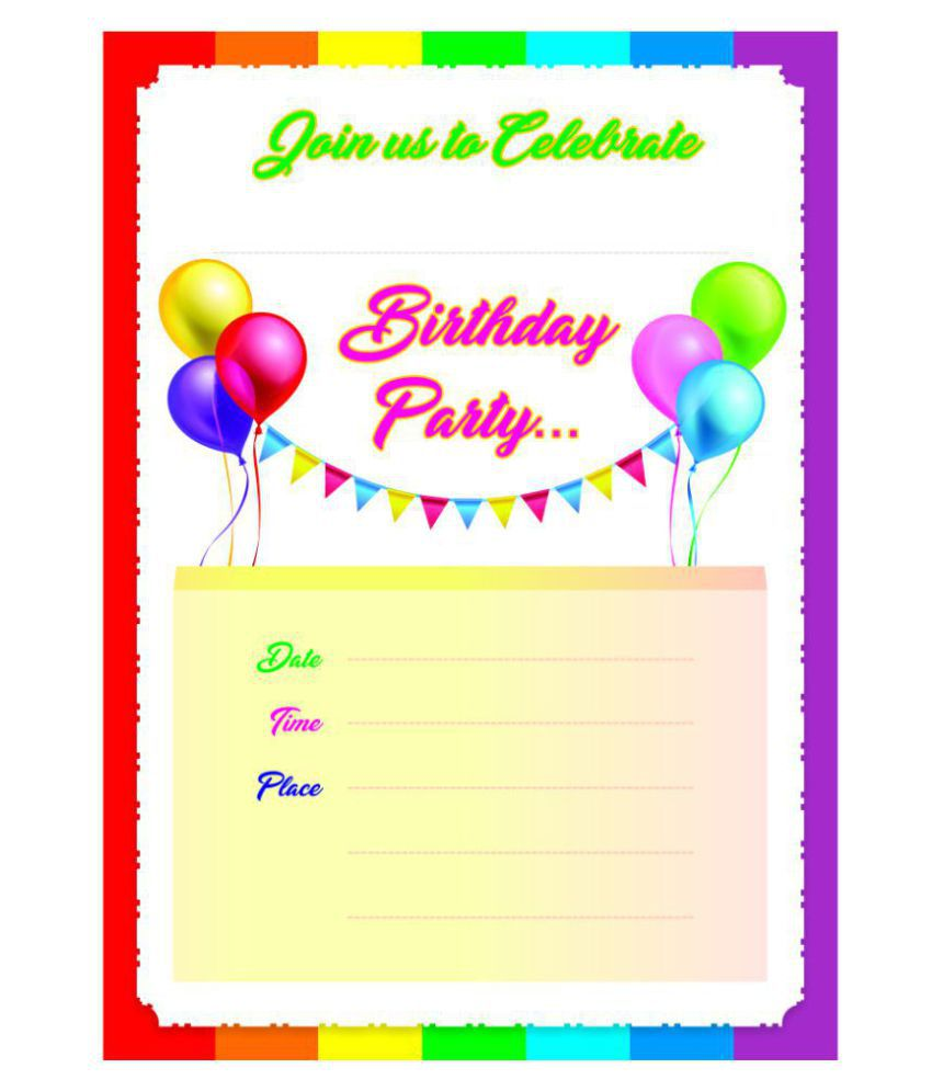 Birthday Themed Pack of 30 Cards – Fill in Style