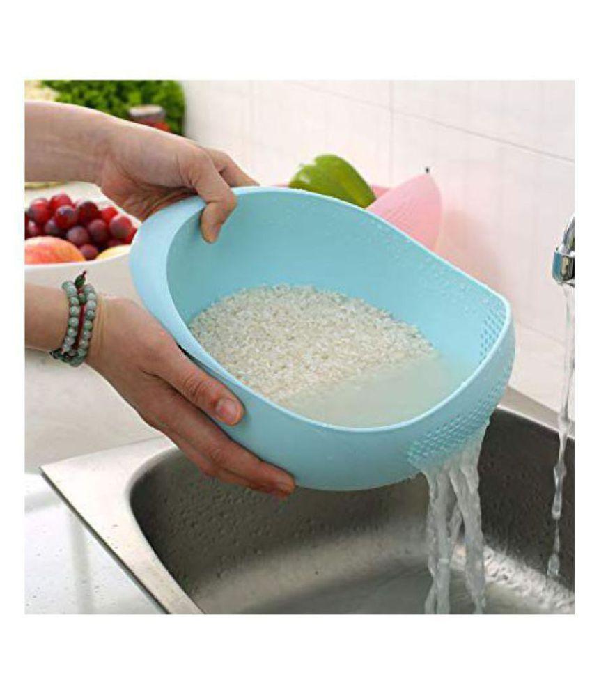 Plastic Rice Pulses Fruits Vegetable Noodles Pasta Colander Washing Bowl Strainer and Drainer