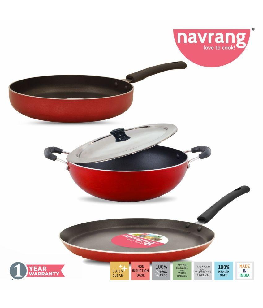 Navrang Cookware COMBO 3PC SET 4 Piece Cookware Set