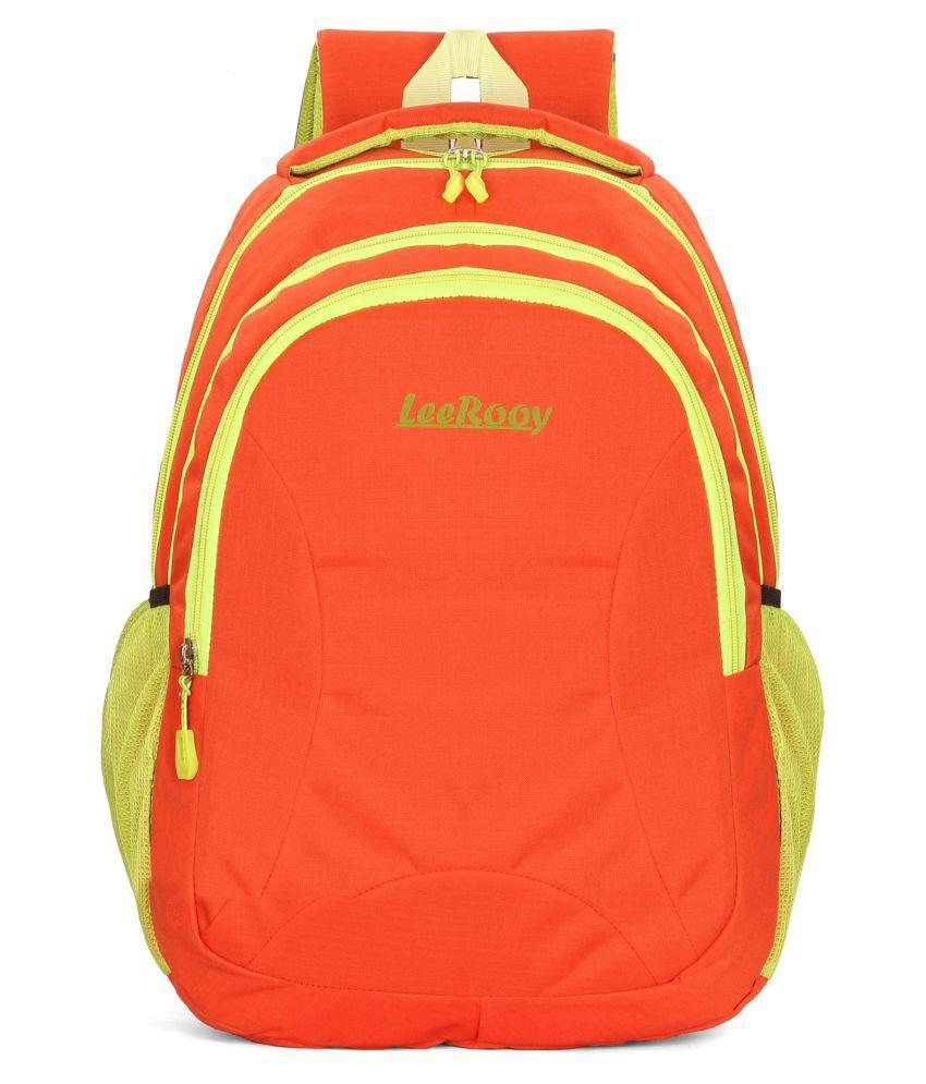 LeeRooy Orange Backpack