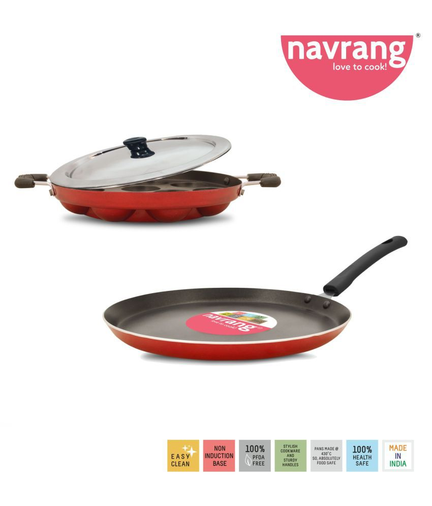 Navrang Cookware APPAKARA+DOSATAWA 3 Piece Cookware Set