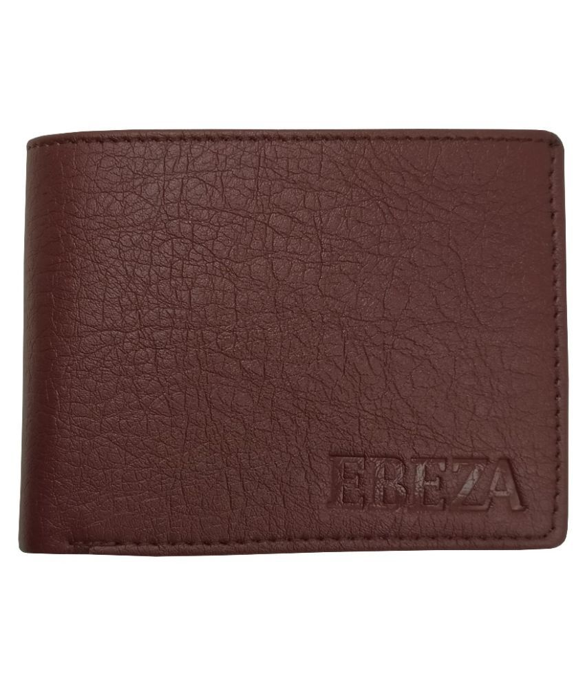 EBEZA PU Brown Fashion Regular Wallet