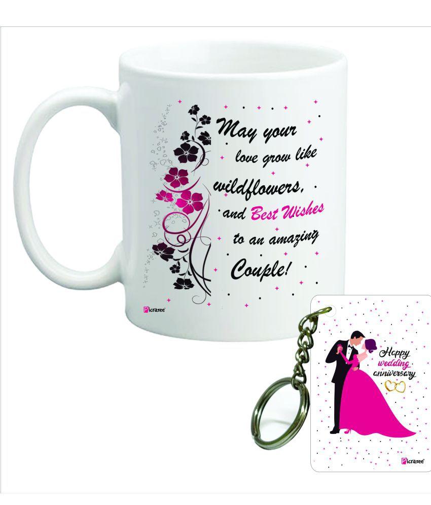 Picrazee Ceramic Gifting Mugs Multicolour - Pack of 2