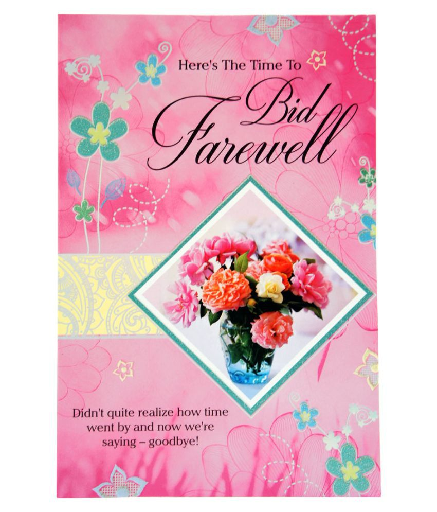 GIFTICS Warm Farewell and Goodbye Wishes Greeting Card - GFT5