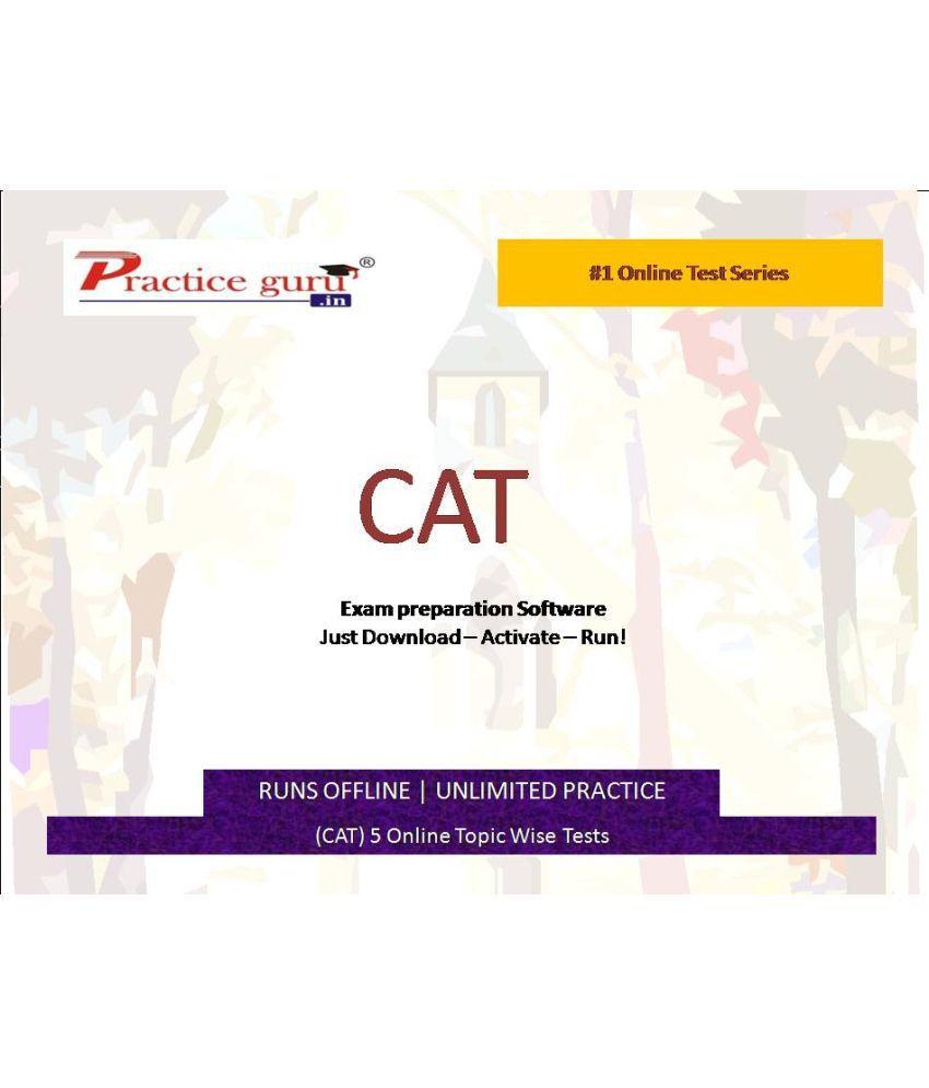 Practice Guru (CAT) 5 Online Topic Wise Tests  License/Redemption Code - Online