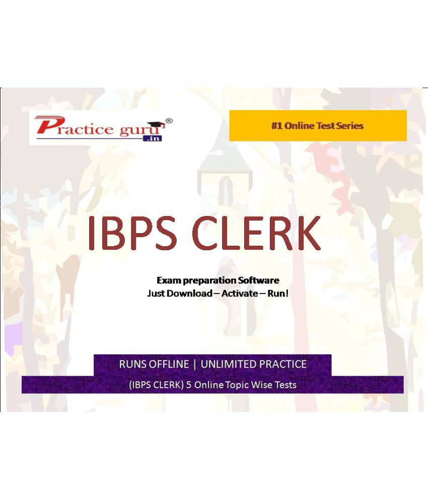 Practice Guru (IBPS PO) 5 Online Topic Wise Tests  License/Redemption Code - Online