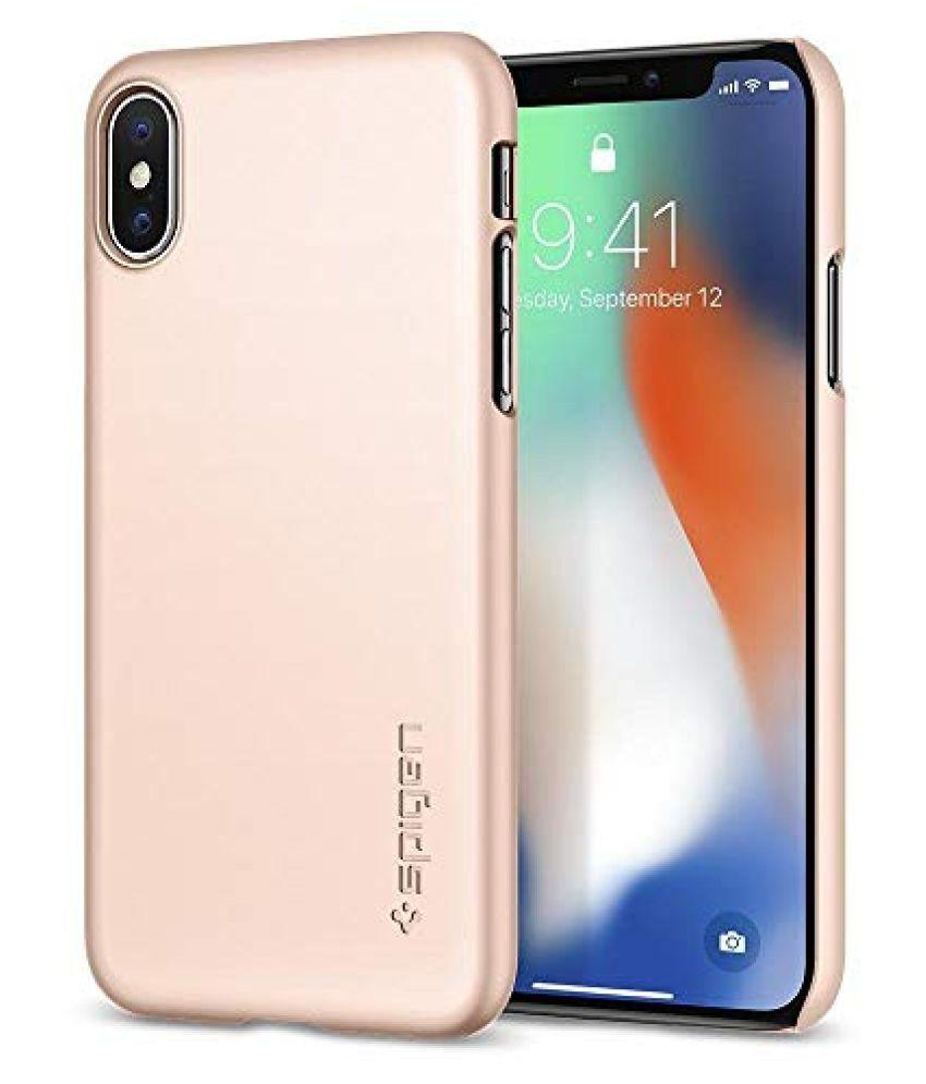Apple iPhone X Plain Cases Spigen - Rose Gold
