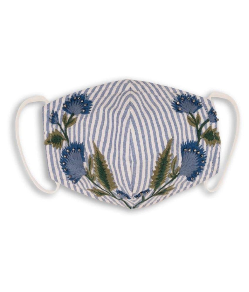 maskerade Blue Striped Emb Respirators