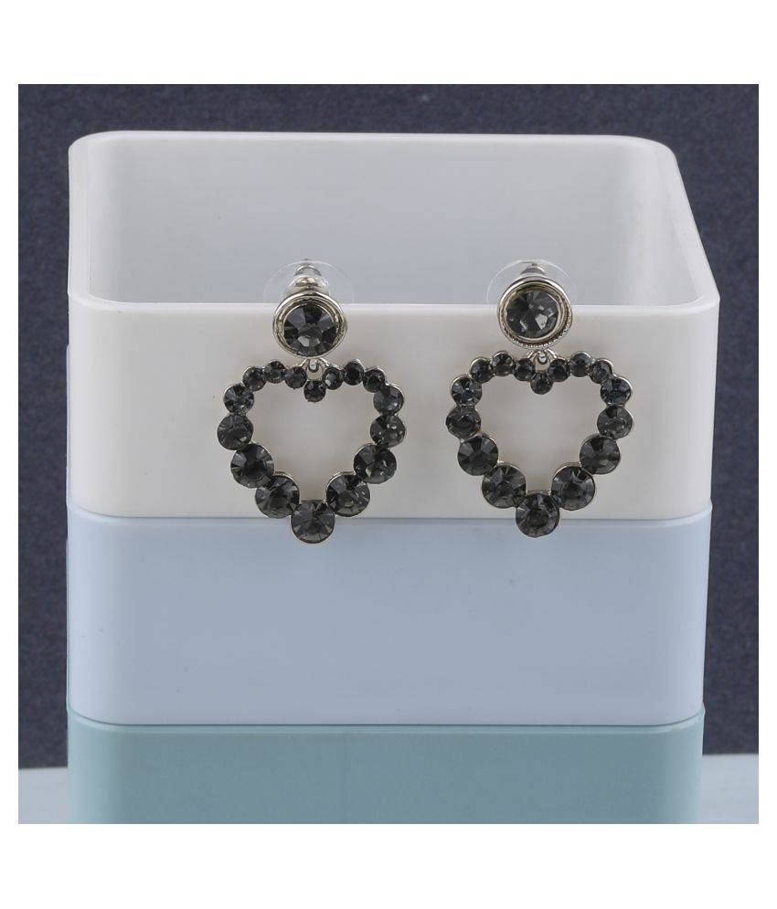 Fashion Delicated Patry Wear Diamond Heart Shape Earring For Women Girl