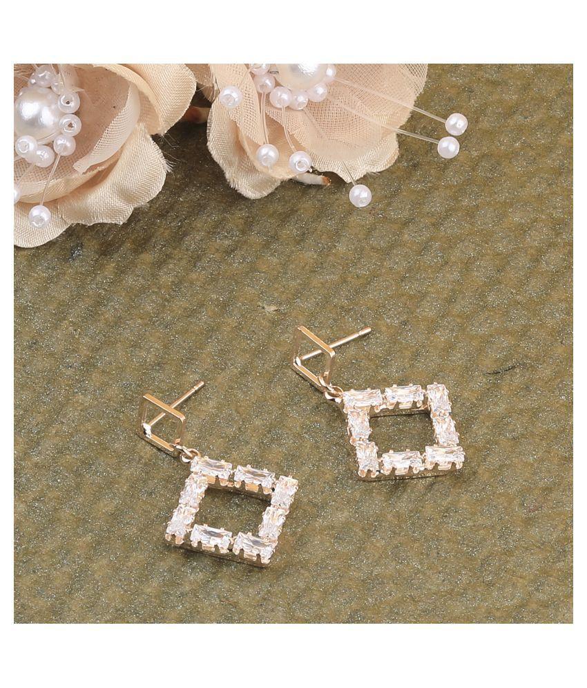 Rose Gold Charm Stylish Diamond Stud Earring For Women Girl