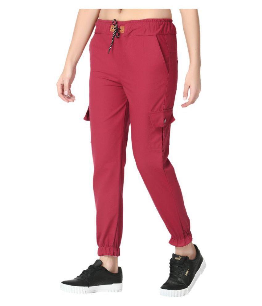 BuyNewTrend Cotton Lycra Jeans - Maroon